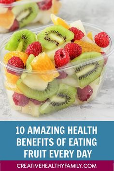 These top 10 reasons why you need to eat fruit will definitely inspire you to run to the supermarket asap! The health benefits of fruit are just truly amazing.  Babies, kids, and adults should make it a habit to add more to their daily diet! #baby #kids #adults #fruits #health Clean Eating Recipes, Raw Food Recipes, Snacks Recipes, Easy Recipes, Diet Recipes, Fruit Benefits, Health Benefits, Lunch Photos, Pregnancy Smoothies