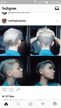 Nothing but pixies undercut short haircut