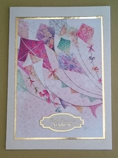 Handmade 5 x 7 Greeting Card Nephew by BavsCrafts on Etsy Cellophane Bags, Pretty Cards, Greeting Cards Handmade, Card Making, Happiness, Pearls, Luxury, Happy, Etsy