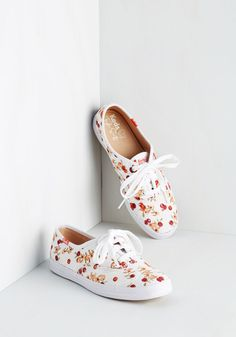 Presh Picked Sneaker. Bring a bushel of refreshing radiance to your look by sporting these berry-printed Keds! #white #modcloth