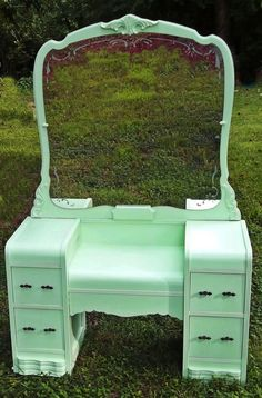 Shabby Chic Waterfall Dresser From The by RedRoverRetro Art Deco Furniture, Upcycled Furniture, Furniture Projects, Furniture Making, Furniture Makeover, Vintage Furniture, Painted Furniture, Home Furniture, Waterfall Furniture