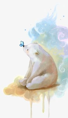 64 trendy Ideas baby drawing illustration polar bears - New Ideas Illustration Mignonne, Art Et Illustration, Polar Bear Illustration, Butterfly Illustration, Child Draw, Art D'ours, Art Mignon, Baby Drawing, Kissing Drawing