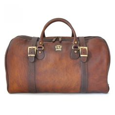 e1bb47c43e Pratesi Unisex Italian Leather Bruce Perito Moreno Travel Duffel Bag In Cow  Leather