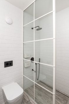 shower plumbing shares wall with toilet and sink | Boooox Heritage Barn by Oooox