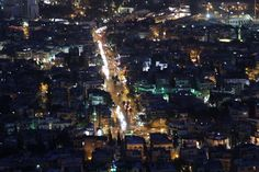 View of Damascus from Mount Qasioun. One Thousand, Damascus, Syria, First Night, Times Square, Travel, Damask, Viajes, Destinations