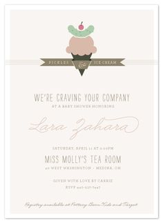 Clever baby shower invite!