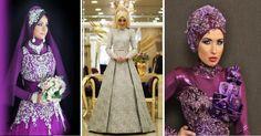 #الموضة اجمل فساتين الخطوبة للمحجبات مجموعة فخمة
