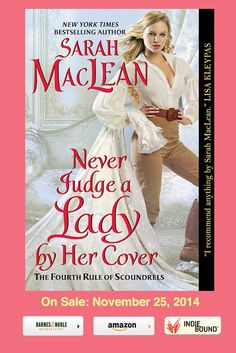 {Cover Reveal} Never Judge A Lady By Her Cover by Sarah MacLean