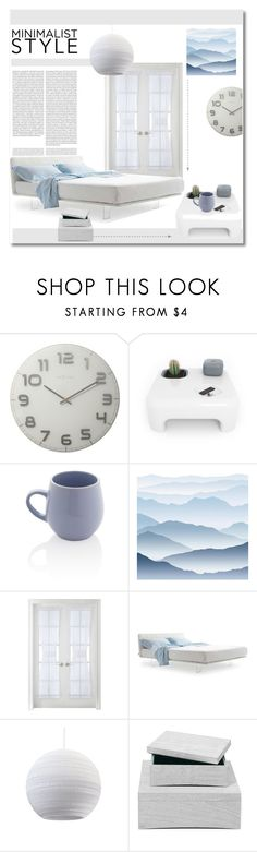 """""""Minimalist  style"""" by nucasa ❤ liked on Polyvore featuring interior, interiors, interior design, home, home decor, interior decorating, Oris, NeXtime, Sabichi and York Wallcoverings"""