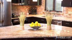 Ciele De Oro Granite Counters in an Open Kitchen