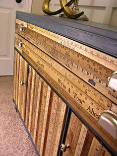 Yard Stick Buffet Tutorial - a wonderful way to restore an old piece of furniture.
