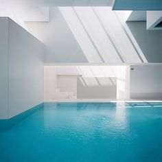 Take a dip into this clear blue indoor Pool