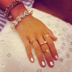 Skinny rings.
