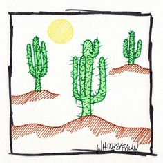 by Whitney Fawn for #30DoC Day 27 - Cactus - @createstuff