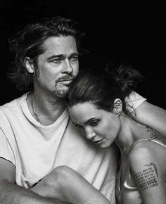 Brangelina via @fashionfrique By Annie Leibovitz by chique_le_frique …