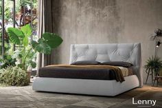 Fabric double bed with upholstered headboard TIFFANY By Felis Bed Story, High Headboards, Sofa, Couch, Clean Design, Design Design, Double Beds, Bed Frame, Branding Design