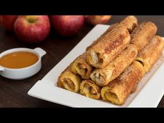 Apple French Toast Roll-Ups :: Home Cooking Adventure