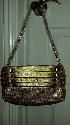 Magnes Sisters Good Time Small Clutch Shoulder Handbag in Gold #GT005 *NWOT*