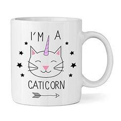 I'M A CATICORN 325,3 ml TAZA - Unicornio Animal Divertido Gato Novedad té café