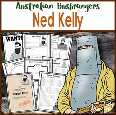 Ned Kelly Australian Bushranger Activity Pack | Was Australian bushranger Ned Kelly a hero or a villain? Nearly a dozen fascinating activities for Year 5!