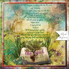 The Word: Another faithjournaling page.  I made this page with The Book by Altered Amanda's Studio, available at Go Digital Scrapbooking.