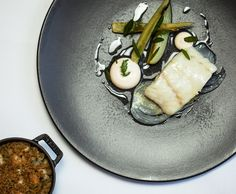 BAKED SKREI COD, CASSOULET OF SHELLFISH, FENNEL, SMOKED ROE recipe by professional chef Steve Groves