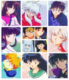 Sango, Inuyasha, Miroku, Kikyo, Koga, Kagura, Kanna, Rin, Sesshomaru, Shippo, Kagome y Naraku.