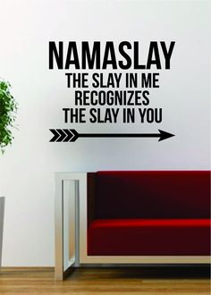 Namaslay The latest in home decorating. Beautiful wall vinyl decals, that are simple to apply, are a great accent piece for any room, come in an array of colors, and are a cheap alternative to a custo