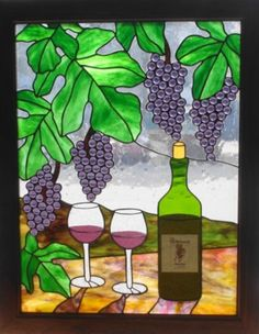 Wine Country stained glass