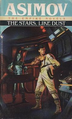 STEPHEN YOULL - art for The Stars, Like Dust (Galactic Empire, #1) by Isaac Asimov - 1991 Spectra Books