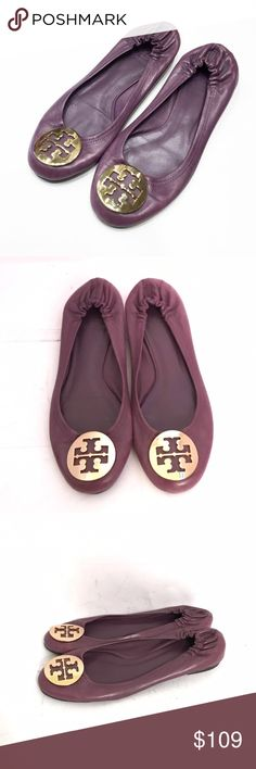 Tory Burch Purple Reva Ballet Flats Worn just a few times. In excellent condition. Size 7 M Tory Burch Shoes Flats & Loafers