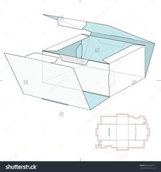 Shipping Slim Retail Box With Die Cut Template Stock Vector Illustration 362363171 : Shutterstock