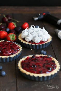 Wild Berry Mascarpone Meringue Tartlets   Bake to the roots