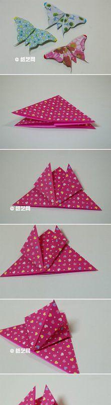 DIY,motyl origami
