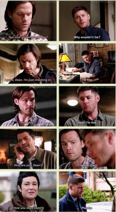 [GIFSET] Dean Winchester being totally and completely fine in season nine.