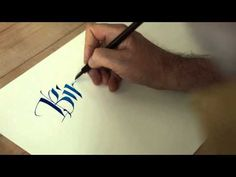 Carl Rohrs Flat Pen Calligraphy - YouTube