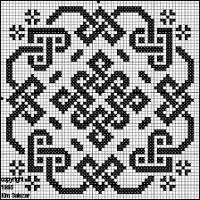 Biscornu celtic pattern Cross stitch, beads, filet crochet, lots of options Biscornu Cross Stitch, Celtic Cross Stitch, Cross Stitch Charts, Cross Stitch Designs, Cross Stitch Embroidery, Embroidery Patterns, Cross Stitch Patterns, Crochet Patterns, Blackwork