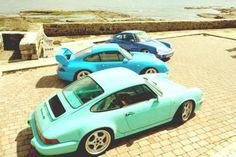 Porsches - colours.  Double win.