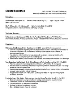 Webmaster resume examples
