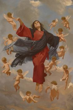 The first thing that often comes to mind regarding the Assumption of Mary is that it sounds like she 'ascended' into Heaven in the same manner as Jesus did. Blessed Mother Mary, Blessed Virgin Mary, Catholic Art, Religious Art, Assumption Of Mary, Early Church Fathers, Heaven Art, 17th Century Art, John The Baptist