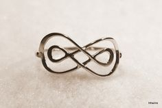 Knot infinity link ring  dainty infinity knot by HiwireJewelry, $28.00