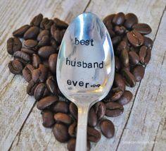Best Husband Ever - Hand Stamped Vintage Coffee Spoon