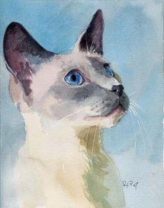 Акварель коты