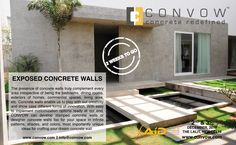 The wait shall be over sooner than expected for CONVOW Inc. to exhibit its exposed concrete walls at FOAID Delhi, the festival of architecture and interior designing 2016!!