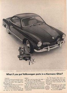 VW's Volkswagen Karmann Ghia Volkswagen Karmann Ghia, Vw Classic, Vw Vintage, Combi Vw, Automobile, Vw Cars, Car Advertising, Cool Cars, Brochures