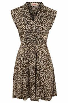 Louche Jodelle Leopard Jersey Dress