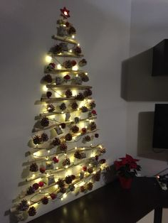 Christmas tree with sticks