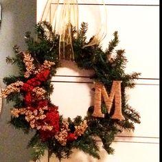 Holiday wreath :) DIY