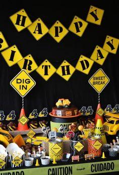Construction Birthday Party Decorations www.spaceshipsandlaserbeams.com