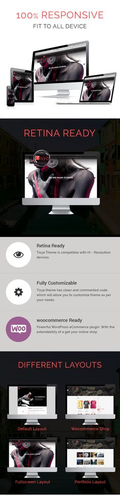 Tisyais a creative, responsive WordPress theme possessing a Clean design. It's perfectly suitable for all kinds of creative websites, corporate and business firms, photographers. If you are a creative studio in search of a new and modern web presence, you are indeed at a right place.